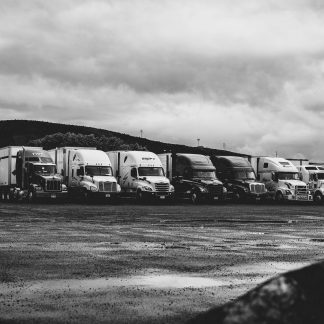 Illustration of multiple trucks